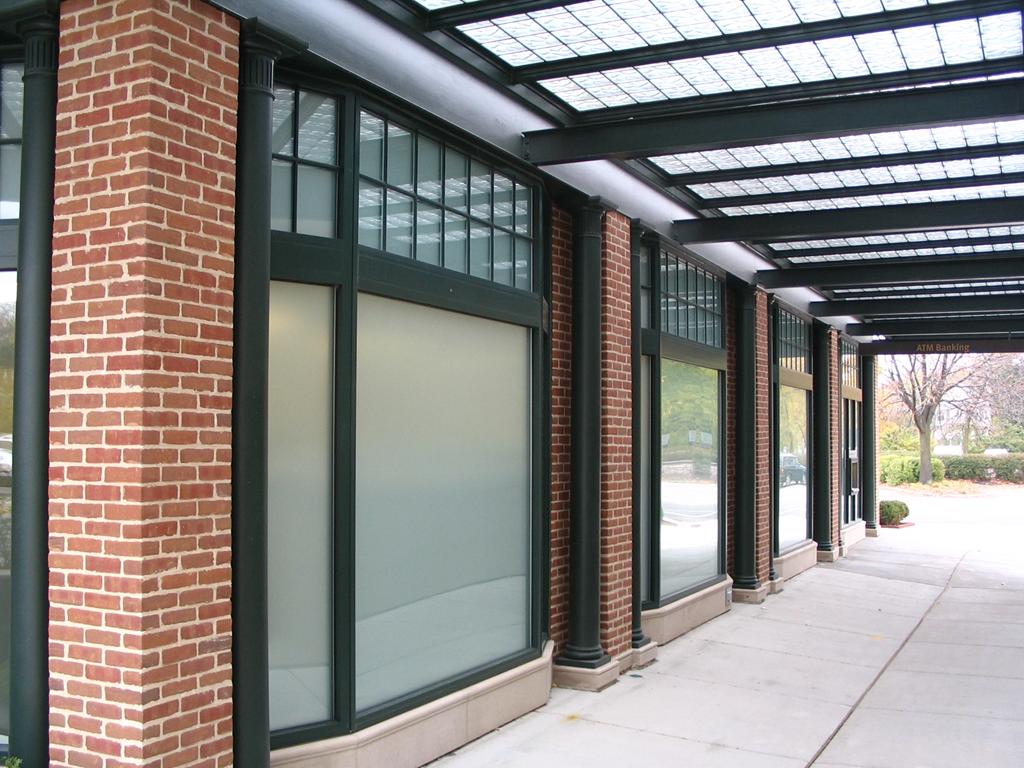 Glass Block Canopy - Bank of America