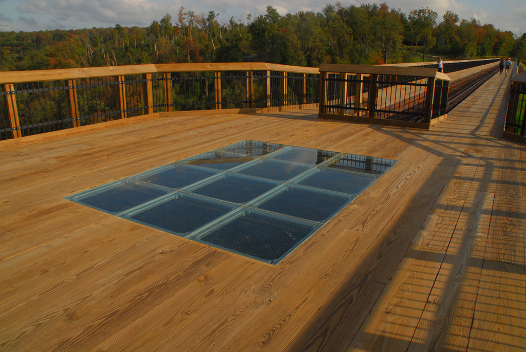 Structural Glass Floor at Kinzua Bridge, PA